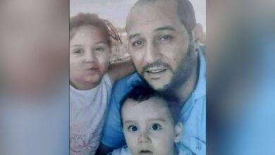 الضحية علال دبو رفقة ابنيه